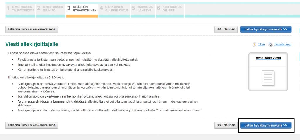 Edunsaajien rekisteröinti kaupparekisteriin